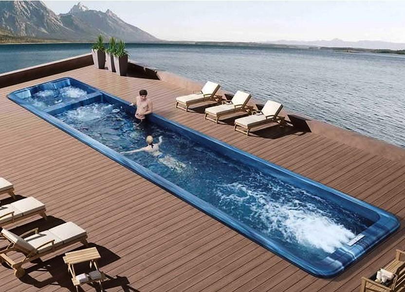 vírivé bazény s protiprúdom